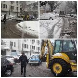 عملیات اجرایی و اقدامات نیروهای منطقه دو در حین بارش برف